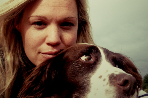 polly profile pic and dog_Fotor